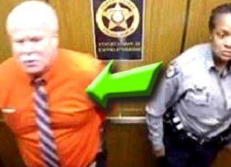 des policiers ignorant qu'il y avait une caméra dans l'ascenseur, font ceci … attendez de voir !│MiniBuzz