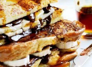 Recette facile: Voici une recette de pain perdu au chocolat et à la banane… Trop bon !│MiniBuzz