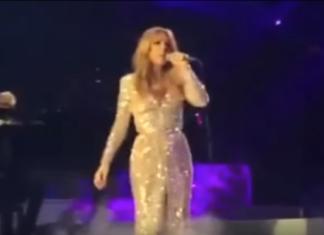 C'est le premier spectacle après la mort de son mari: Céline Dion ne retient pas son émotion