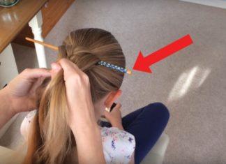 Elle Insère Un Bâtonnet Et Commence à Faire Une Tresse : Lorsqu'elle L'enlève, La Coiffure Est Superbe | Minibuzz