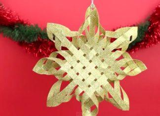 Apprenez à créer à la maison une superbe étoile de Noël en quelques minutes. │ MiniBuzz