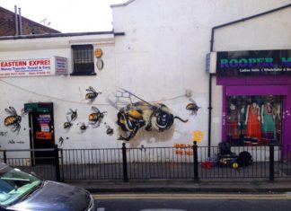 Abeilles : pour alerter le monde, il tague les murs de Londres !