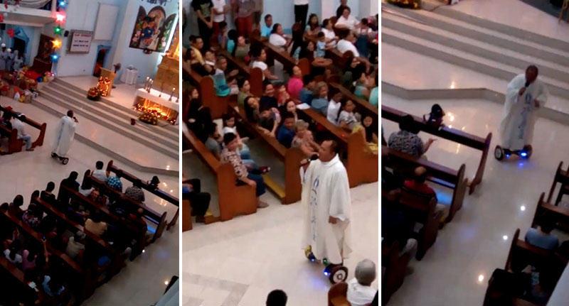 Un Prêtre Célèbre La Messe… Mais Il Y A Un « Détail » Qui Vous Laissera Tous Stupéfaits!