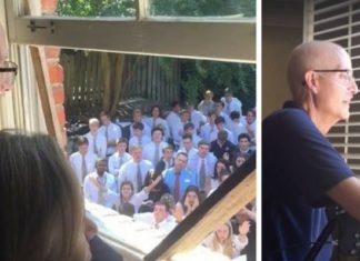 400 élèves chantent pour leur prof atteint d'un cancer. Bouleversant !