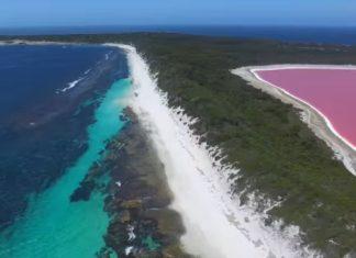 Le merveilleux lac Hillier sur l'Île Middle: Voici la spectaculaire vue depuis un drone. │ MiniBuzz