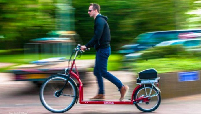 Pour rouler avec ce vélo, il faut marcher ! Voici le Lopifit.
