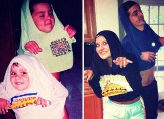 20 photos de frères et sœurs qui recréent des photos d'enfance, la cinquième est à mourir de rire! │ MiniBuzz