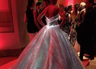 Sa grande robe est magnifique, mais lorsqu'on la voit dans le noir, quelque chose de magique se produit! │MiniBuzz