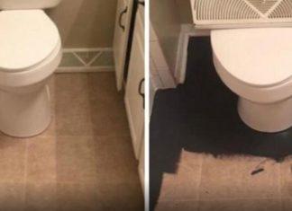 On la croyait folle de peindre sa salle de bain en noir, mais le résultat vous donnera envie de faire la même chose! │ MiniBuzz